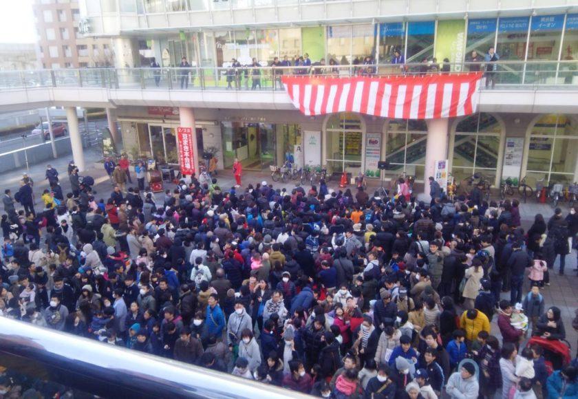 勝川駅豆まき