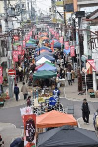 2月の弘法市の様子