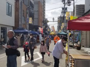 3月の弘法市の様子
